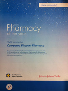 pharmacy of the year